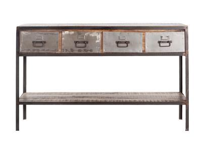 Design-Konsole 4 Schubladen 1 Regal LOFT