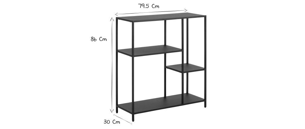 Design-Konsole aus schwarzem Metall L80 cm PODIUM