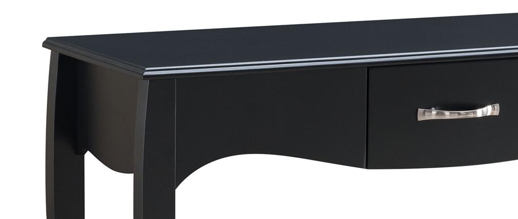 Design-Konsole Barockstil lackiert Schwarz MARGOT