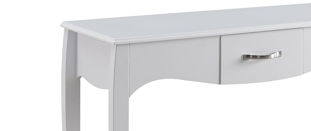 Design-Konsole Barockstil lackiert Weiß MARGOT