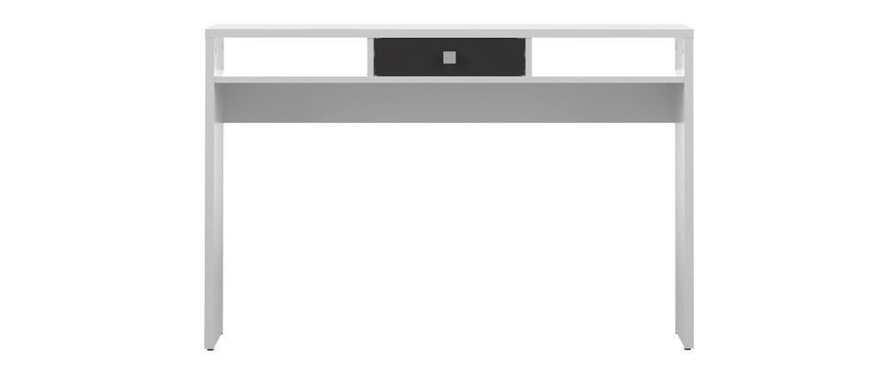 Design-Konsole BRUCE Weiß mit schwarzer Schublade