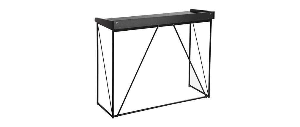 Design-Konsole Grau und Schwarz L100 cm WALT