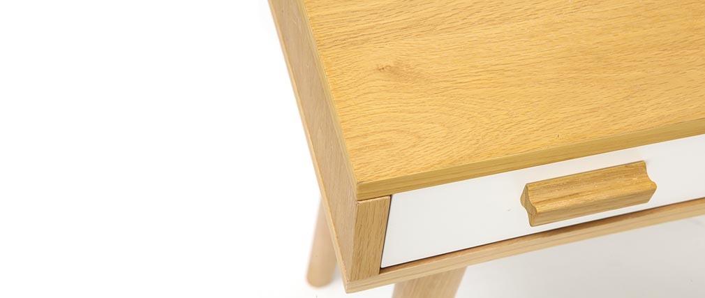 Design-Konsole skandinavisch Weiß und Eiche HELIA