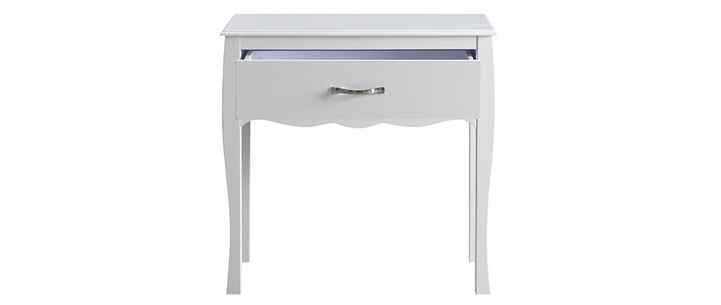Design-Konsole Weiß lackiert 1 Schublade MARGOT