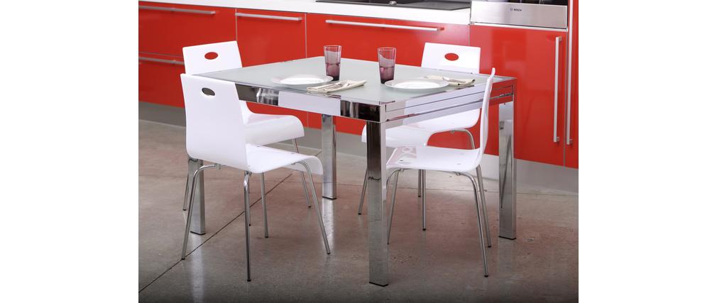 Design Küchenstuhl Esszimmerstuhl CINDY weiß Miliboo