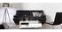 Design-Ledersofa drei Plätze verstellbares Kopfstück Schwarz EWING - Büffelleder