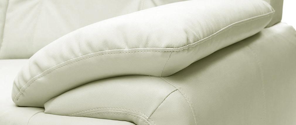 Design-Ledersofa Weiß 2 Plätze TAMARA - Rindsleder