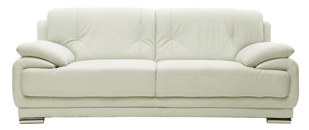 Design-Ledersofa Weiß 3 Sitzplätze TAMARA - Rindsleder