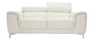 Design-Ledersofa zwei Plätze mit Kopfstück zur Entspannung Weiß NEVADA - Büffelleder