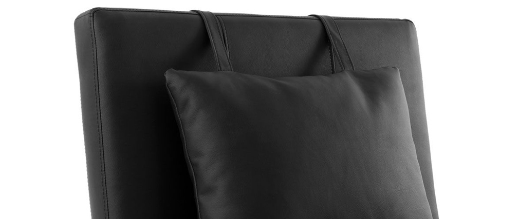 Design-Liegestuhl Schwarz MONACO