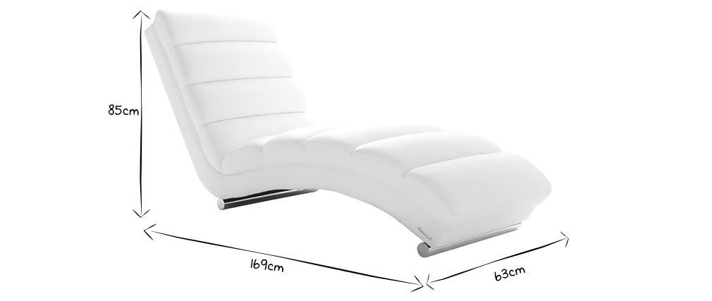 Design-Liegestuhl / Sessel Grau TAYLOR