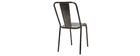 Design-Metallstühle Edelstahl 2er-Set EVAN