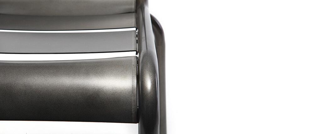 Design-Metallstühle Edelstahl 2er-Set SHERMAN