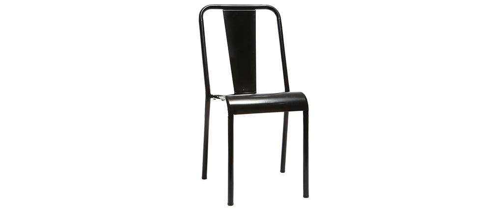 Design-Metallstühle Schwarz 2er-Set EVAN