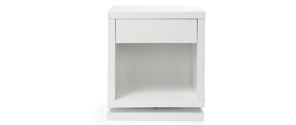 Design-Nachttisch drehbar Weiß glänzend MAX