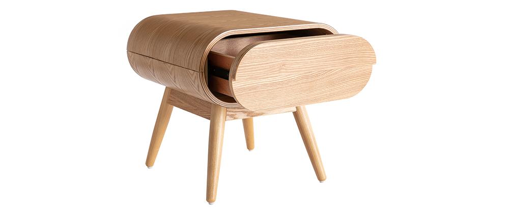 Design-Nachttisch Eschenholz 1 Schublade BJORG