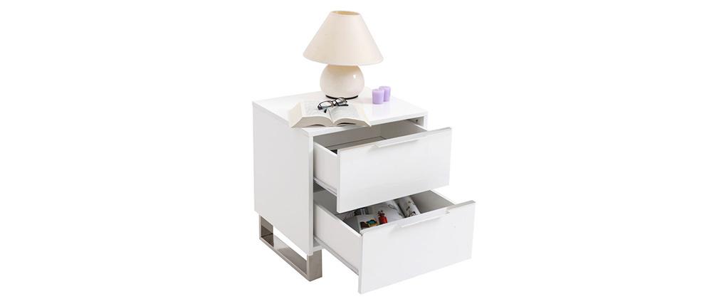 Design-Nachttisch HALIFAX Weiß