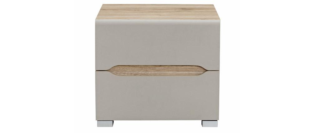 Design-Nachttisch helles Holz Taupe WILLY