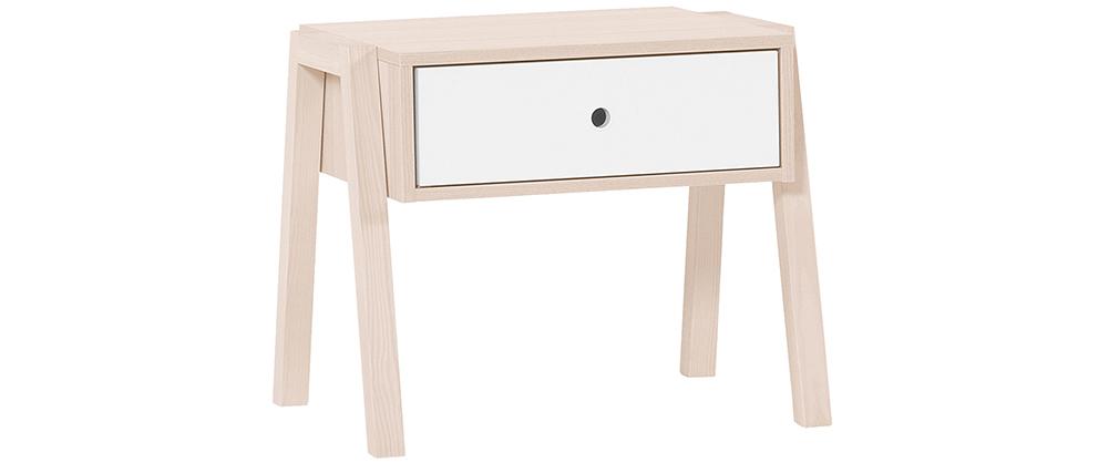 Design-Nachttisch Holz und Weiß EASY