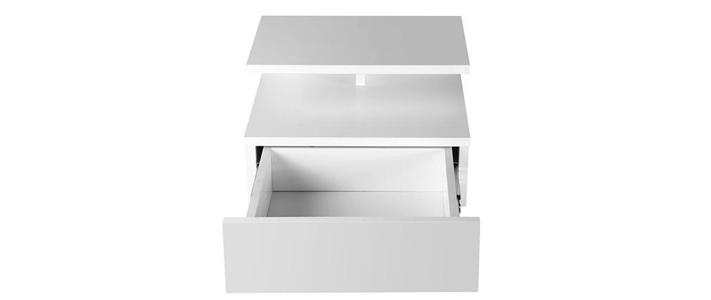 Design-Nachttisch lackiert Weiß MITSY