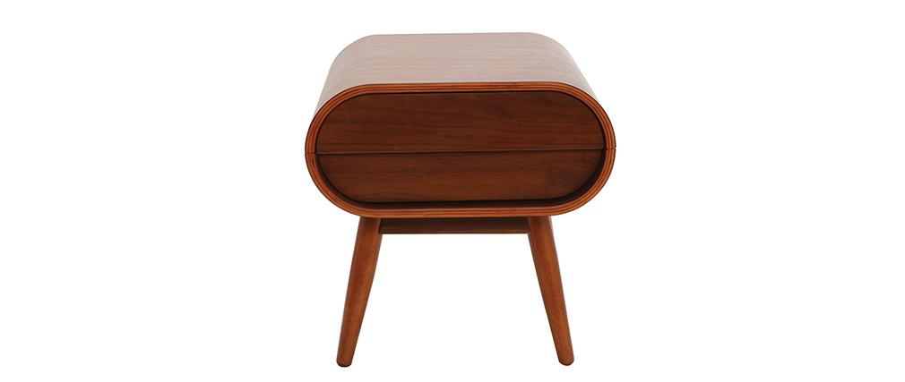 Design-Nachttisch Nussbaum 1 Schublade BJORG
