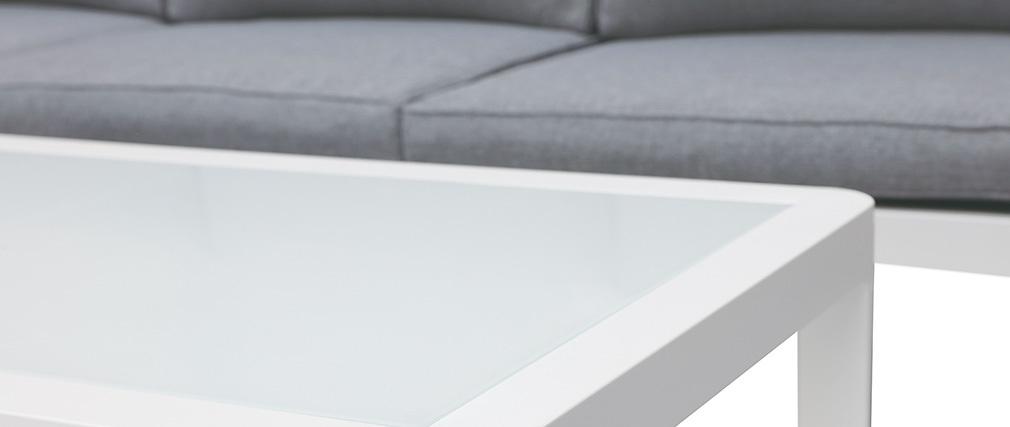 Design Outdoor-Wohnzimmer Dunkelgrau mit Couchtisch TONIGHT