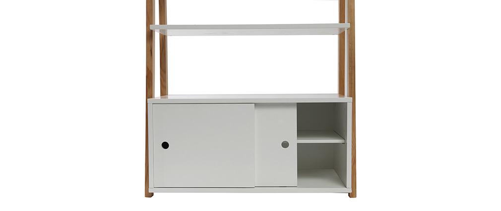 Regalsystem holz weiß  Design-Regal lackiert matt Weiß und Holz STOKA - Miliboo