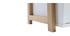 Design-Regal lackiert matt Weiß und Holz STOKA
