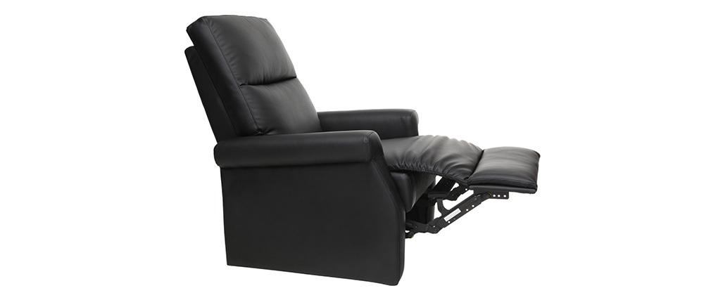 Design-Relax-Sessel manuell verstellbar Schwarz COTY