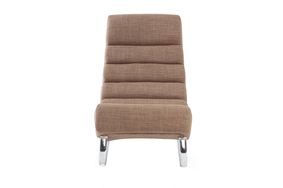 """Design-Relax-Sessel Stoff Taupe """"Rocking Chair"""" - TAYLOR"""