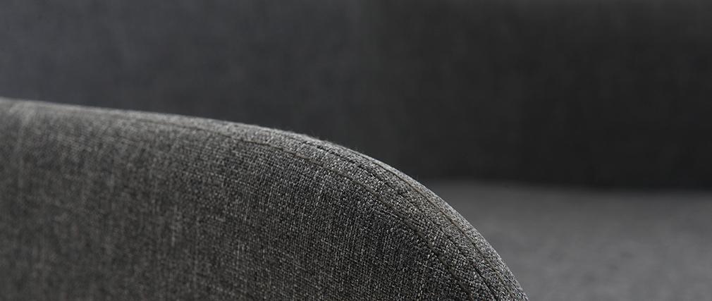 Design-Schaukelstuhl Stoff Dunkelgrau SHANA