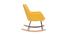 Design-Schaukelstuhl Stoff Gelb SHANA