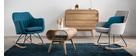 Design-Schaukelstuhl Stoff naturfarben SHANA