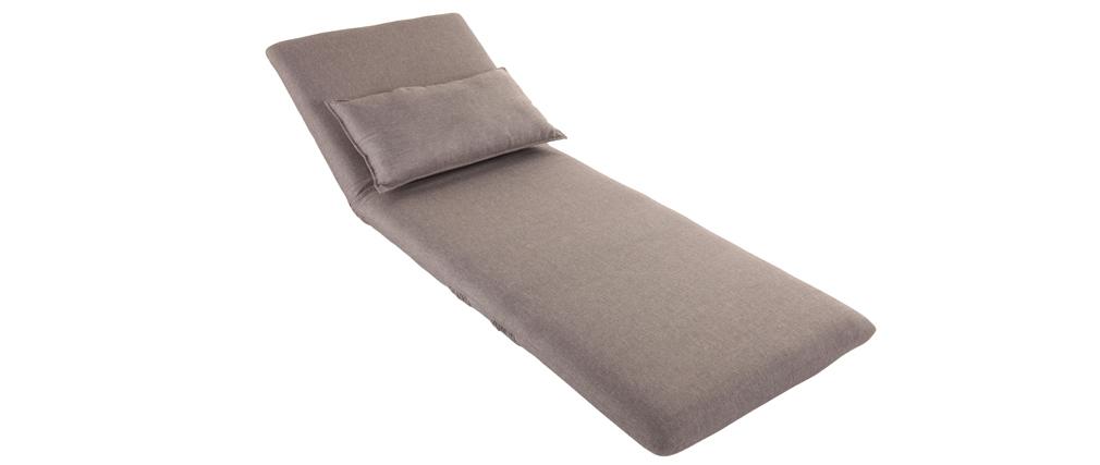 Schlafsessel design  Design-Schlafsessel Verstellbar Taupe SLEEPER - Miliboo