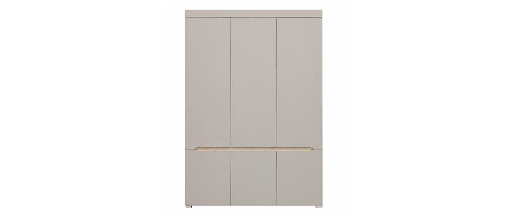 Design-Schrank 6 Türen mit Kleideraufhängung und Spiegel WILLY