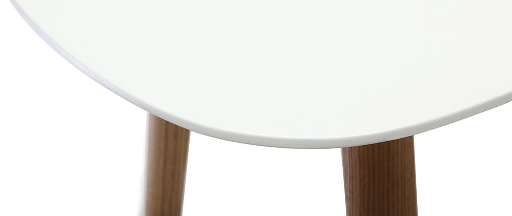 Design-Schreibtisch 120 cm Holz und Weiß SWIFT