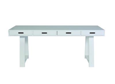Design-Schreibtisch aus Holz Cremefarben 4 Schubladen herausnehmbar ARCOS