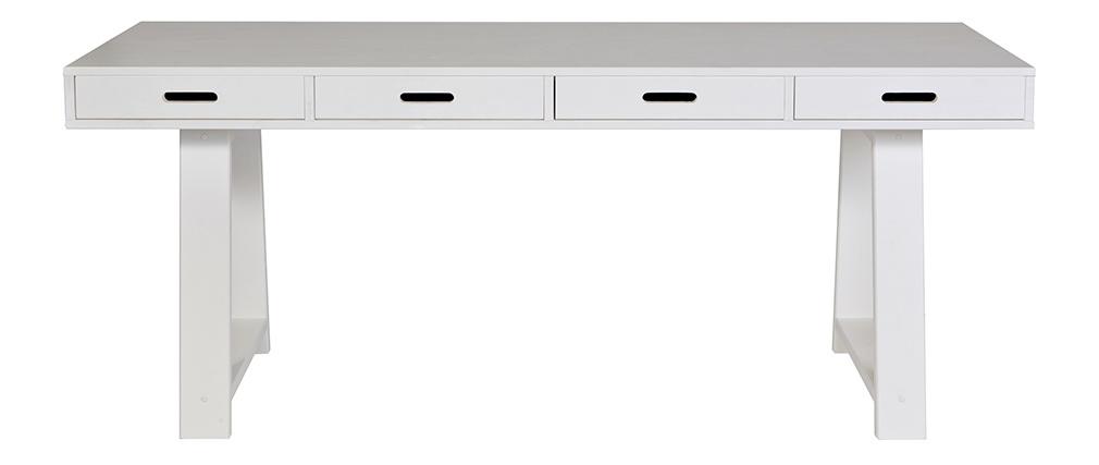 Design-Schreibtisch aus Holz Cremefarben 4 Schubladen herausnehmbar L178 ARCOS