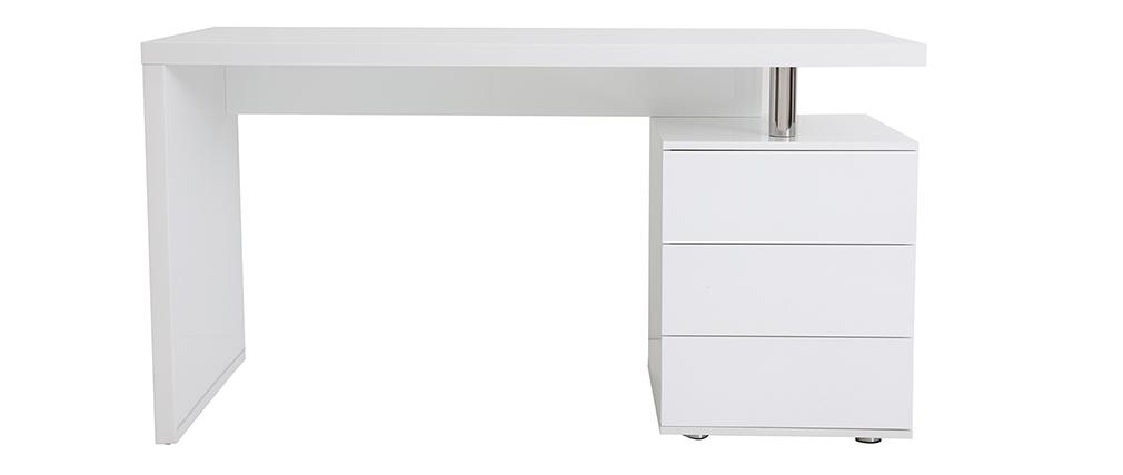 Design-Schreibtisch CALIX Weiß, 3 Schubladen