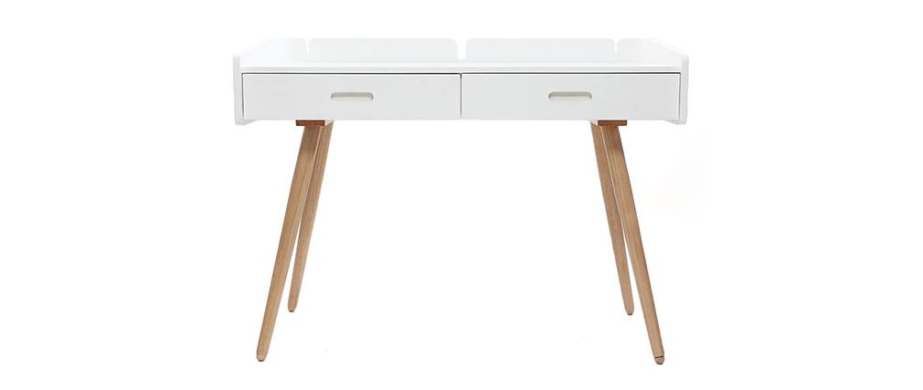 Design-Schreibtisch Esche Weiß NEVIL