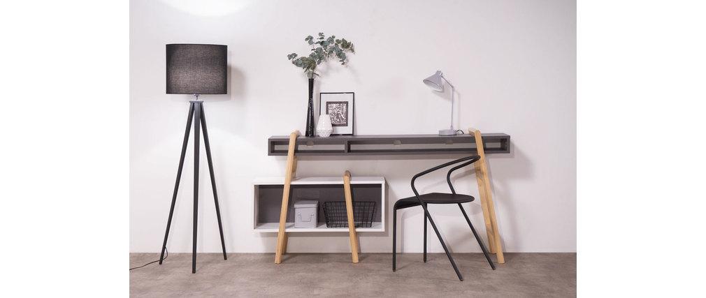 Schreibtisch design  Design-Schreibtisch Grau und Weiß WOOD TANG KOMPO 3 - Miliboo