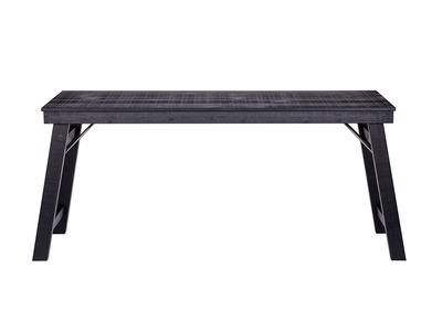 Design-Schreibtisch Holz unbehandelt Schwarz 174 cm STUDY