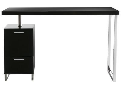 Design-Schreibtisch LEXI Schwarz, 2 Schubladen