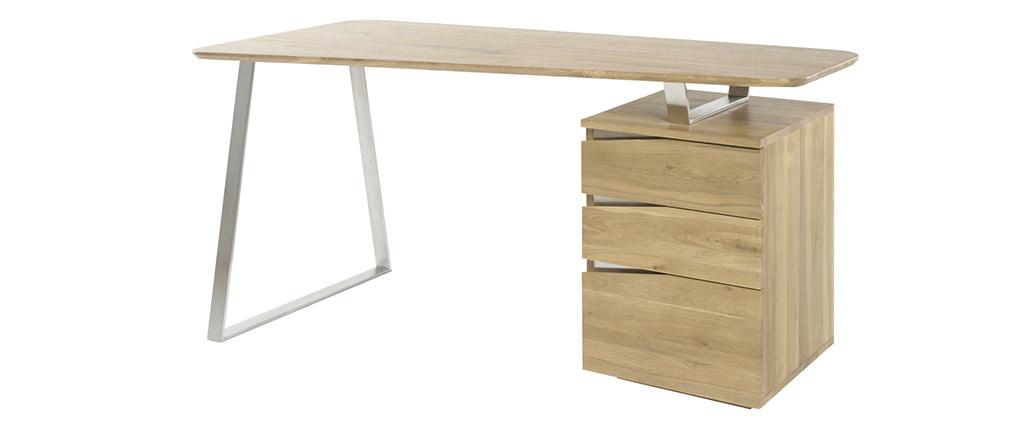 Design-Schreibtisch mit Stauraum Metall und Holz L150 JANIS