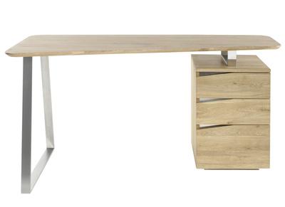 Design Schreibtisch Mit Stauraum Metall Und Holz L150 Janis