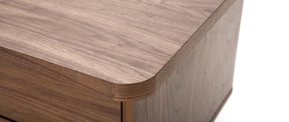 Design-Schreibtisch Nussbaum L140 FIFTIES