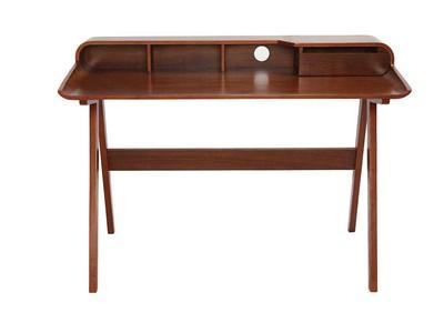 Design-Schreibtisch Nussbaum - SOLVEIG