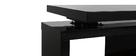 Design-Schreibtisch schwarz lackiert MAX abnehmbar