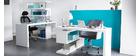 Design-Schreibtisch T-MAX abnehmbar Weiß