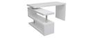 Design-Schreibtisch weiß lackiert verstellbar MAX